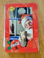 Rare Vintage single swap playing card 1945 Christmas Coca Cola Great condition