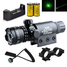 Tactical Green Laser Sight Rifle Dot Scope + Swith+Picatinny Rail+Barrel Mounts
