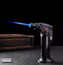 blue jet butane lighter torch refillable adjustable flame lighter