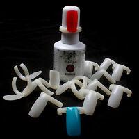 100 PCS Plastic Nail Polish Color Display Practice Ring False Tips Nail Art Tool