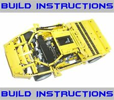 Lego Technic Racers Vector Super Car BUILD INSTRUCTIONS ONLY- 8653 8448 Ferrari