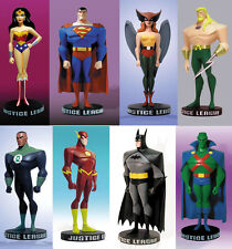 DC Justice League Mini Maquette Animated 8x Full Set Figures (Sealed Brand New)
