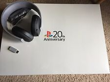 NEW SONY PLAYSTATION 4 20TH ANNIVERSARY LTD EDITION PS4 & GOLD WIRELESS HEADSET