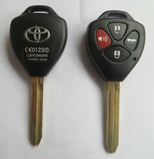 NEW 4 BUTTON REMOTE KEY SHELL CASE FOB FOR TOYOTA COROLLA CAMRY