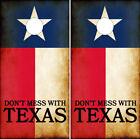 Cornhole Wraps Texas Flags Don't Mess With Texas Rustic Style Texan Flag Motto