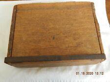 Wooden cigar curing box vintage