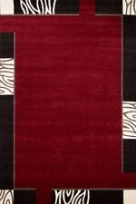 Tapis rouge rectangulaire pour la maison, 200 cm x 290 cm