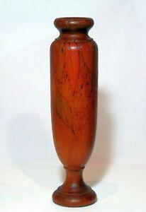 Tall Pokerwork Vase Pendant Gumleaves