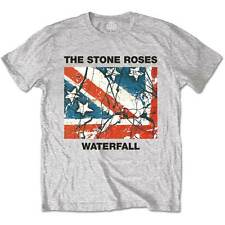 The Stone Roses T Shirt Classic Waterfall Officially Licensed Mens Grey Tee NEW