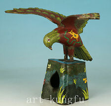 exquisite Rare Chinese Cloisonne Collection Hand Carved Eagle Statue decoration
