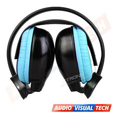 IR Wireless Cordless Dual Channels Infrared Stereo Headphones Headsets Blue Kids