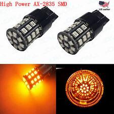 JDM ASTAR 7440 7443 Amber AX-2835 SMD Bright LED Turn Signal Blinker Light Bulbs