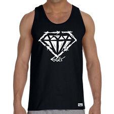 "EAKS® Herren Tank Top ""ROUGH DIAMOND"" Muskel Shirt Hip Hop Rap-Diamant Classic"