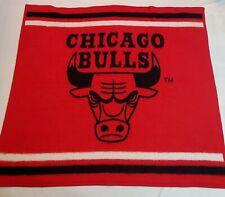 Vintage Biederlack Fleece Chicago Bulls Blanket Throw - 52 x 48 inches - Jordan