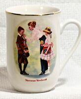 "1986 Norman Rockwell Art ""The First Day Of School"" Tea Coffee Cup Mug VERY NICE!"