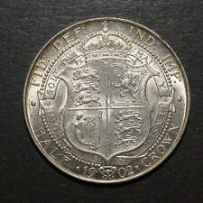 More details for edward vii 1902 half crown. high grade