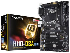 Gigabyte GA-H110-D3A DDR4 Motherboard CPU i3 i5 i7 LGA1151 Intel H110 ATX *NEW*