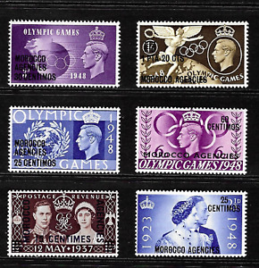 Morocco Agencies .. G.B. Issues overprinted . K.G V1 .. Mint,never hinged . 6844