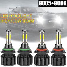 9005+9006 4-Side 220W 44000LM Combo LED Headlight Bulb High Low Beam 6000K