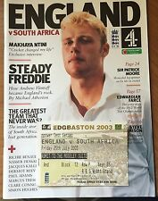 Cricket Npower TestEngland v South Africa, 1st Test Match Programme and Ticket.