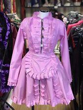Misfitz bubblegum pink pvc lockable Sissy Maids Dress, size 26 TV Cross-dresser