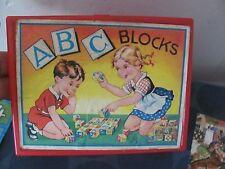 Eichorn vintage ABC blocks West Germany with uncut sheets & case