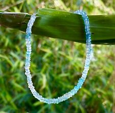 beads, layer stack 14k white gold blue zircon gemstone bracelet highly faceted