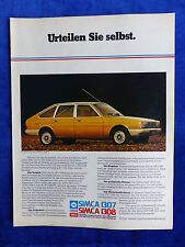 Chrysler Simca 1307 1308 - Werbeanzeige Reklame Advertisement 1977 __ (117