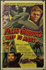 FLASH GORDON'S TRIP TO MARS R1940 ORIGINAL 27X41 MOVIE POSTER BUSTER CRABBE