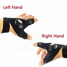 Finger Glove with LED Light Flashlight Gloves Outdoor Gear Rescue Night Fishing