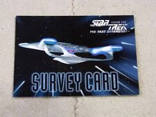 1996 Skybox Paramount Pictures Star Trek The Next Generation Survey Card