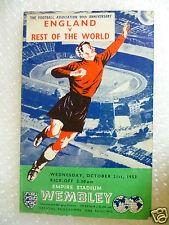 1953 ENGLAND v REST OF THE WORLD, 21st Oct