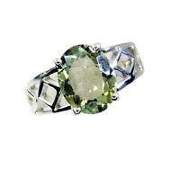toothsome grün Amethyst Silber Schmuck grünen Ring l-1in de 14,15