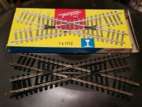 Vintage 1950's Fleischmann HO Scale 30° Cross Track #1712 with Box -West Germany