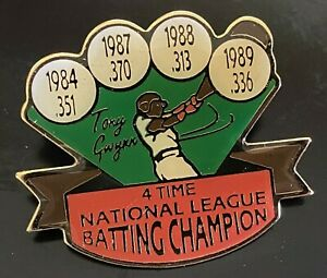 TONY GWYNN 4-Time National League Batting Champion 1989 Baseball Pin MINT