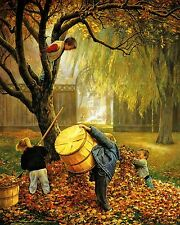 Greg Olsen Paper Lithograph Print FALL LEAVES 16X20 Limited Edition