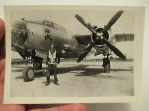 "*PHOTO* B-26 Marauder named ""Hot Rock""  397th B.G. ETO ~ Excellent"