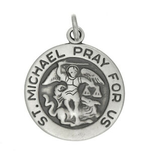 STERLING SILVER 925 ST. MICHAEL PRAY FOR US CHARM/PENDANT
