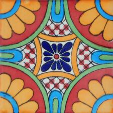 50 Mexican Talavera tiles 4x4 Decorative Folk Art Handmade C187
