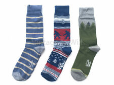 Original Penguin Men 7-12 Bigfoot/ Stripe/ Tree Gray Blue Sock Gift Box - 3 Pack
