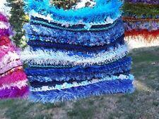 LUNiQUE handmade crochet embellished bag Blue 🌺🌼🌻