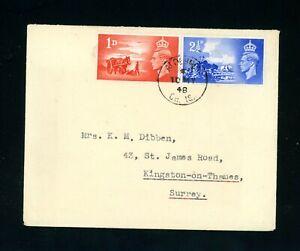 Alderney Channel Islands  1948  Postmark, Liberation Set     (My 499)