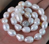 9-10mm weißen Akoya-Zuchtperlen Halskette 50CM