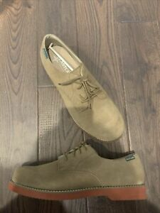 Eastland Buck Suede Oxford Men's Size 12 2E Wide Taupe