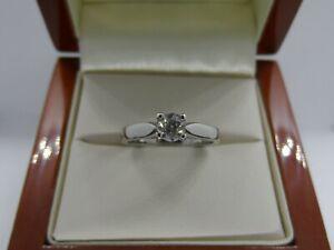 Superb Platinum Diamond Solitaire Engagement Ring Size K