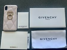 GIVENCHY Quilted Leather iPhone X/XS Cover Case GENUINE NEW  Box copy of Receipt