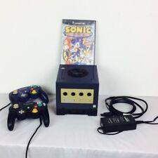 Nintendo GameCube Console Indigo GameBoy Player Bundle 2 Controllers Games