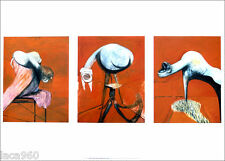 Francis BACON Three Studies For Figures At The Base of Crucifixion Poster