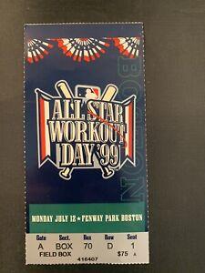 1999 MLB All Star Game Home Run Derby Workout Day Ticket Fenway Park Ken Griffey