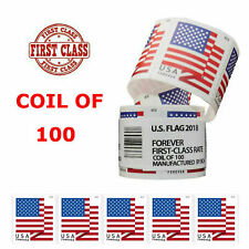 Roll of 100 Stamps USPS 2018 US Flag Forever Postage Stamps SEALED Free Shipping